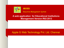 Presentation - iBoss Education Management System