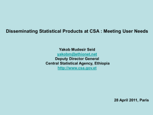 Disseminating Statistical Products at CSA -- Meeting User