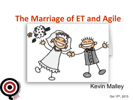 The Marriage of Exploratory Testing and Agile Concepts
