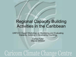 Regional Capacity Building Activities in the Caribbean