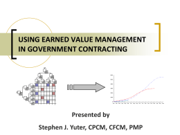 Using Earned Value Management in Government Contracting