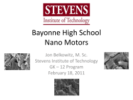 Nano Motors - Stevens Institute of Technology