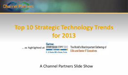 Top 10 Strategic Technology Trends for 2013
