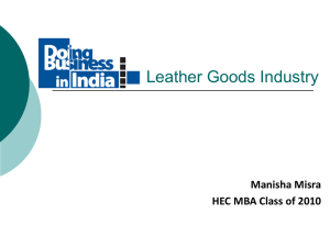 Leather Goods Industry - EasyPass International