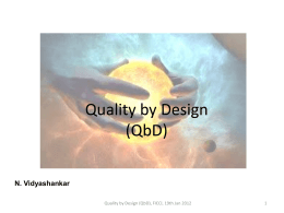 Quality by Design (QbD)