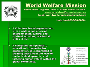 World Welfare Mission Mission Health, Happiness, Peace & Welfare
