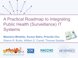(Surveillance) IT Systems (2nd) - Public Health Informatics Conference