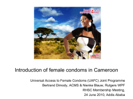 Introduction of female condoms in Cameroon