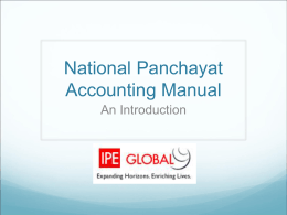 National Panchayat Accounting Manual