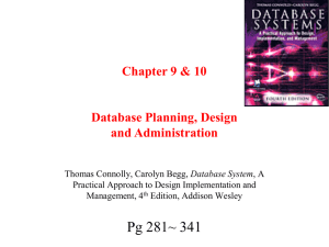 Chapter 4 Database Planning, Design and Administration