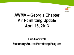 Eric Cornwell - GA Air Permitting Update