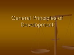 General Principles of Development