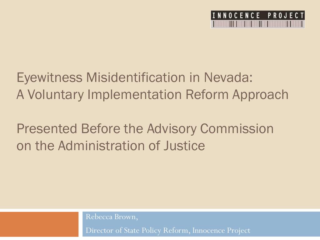 eyewitness misidentification essay
