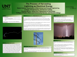 The Process of Harvesting Lightning as Electrical Energy Skylar