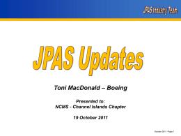 JPAS Industry Sub Team   NCMS