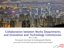 Collaboration between Works Departments and Innovation and