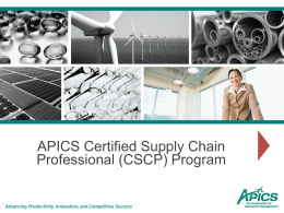 The APICS CSCP Learning System