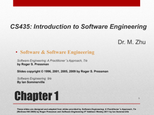 Chapter 1: Introduction to Software Engineering