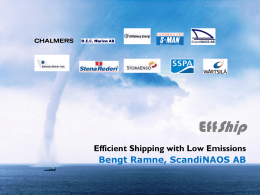 Efficient Shipping with low emissions