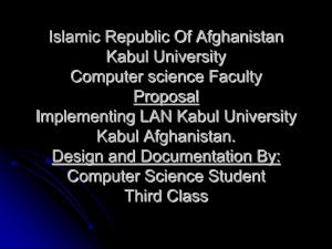Islamic Republic Of Afghanistan Kabul University Computer science