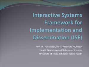Interactive Systems Framework
