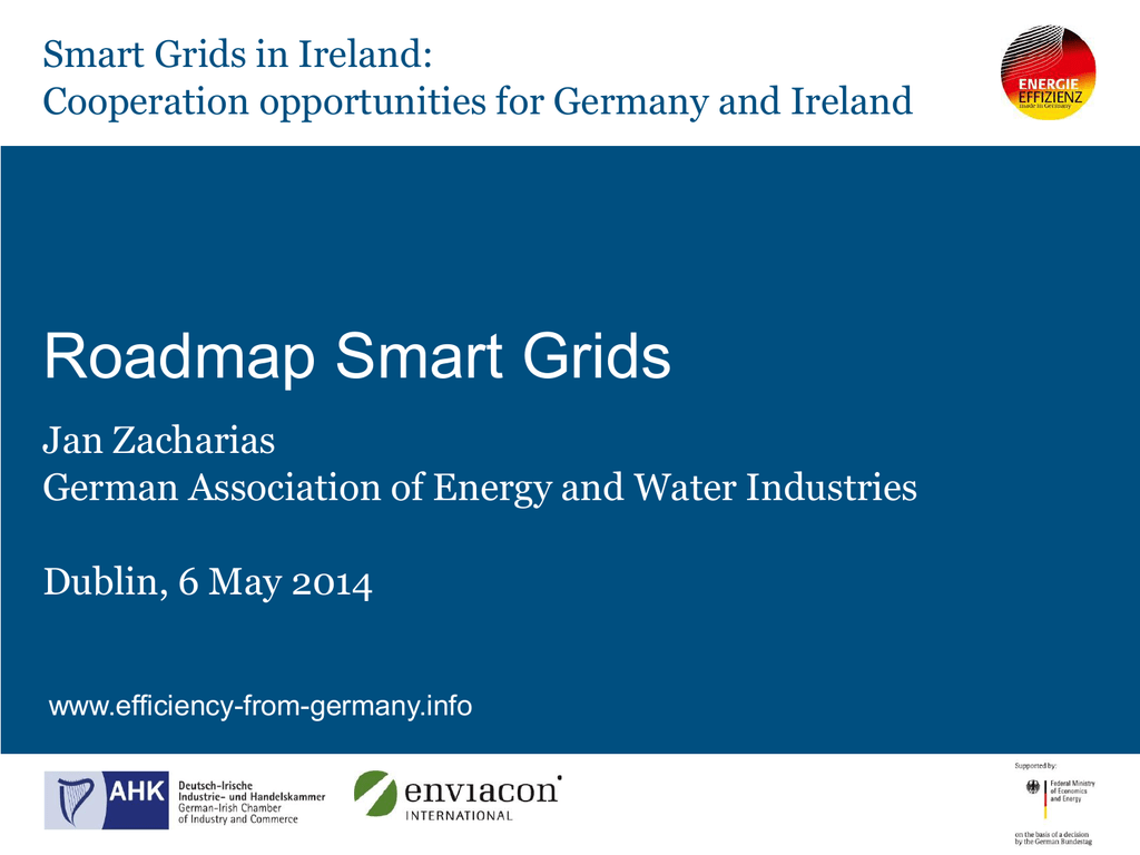 Roadmap for the Implementation of Smart Grids in Germany, Jan on