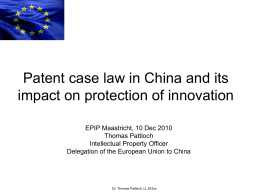 Maastricht Patent Case Law 10 Dec 2010