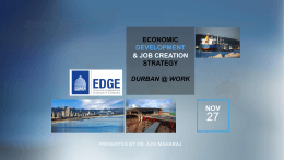 Economic Development and Job Creation Strategy 2013