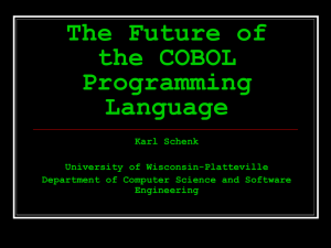 The Future of the COBOL Programming Language (in MS