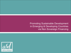 Promoting Sustainable Development in Emerging & Developing