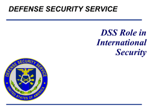 DSS Role In International Security Overview August 2011