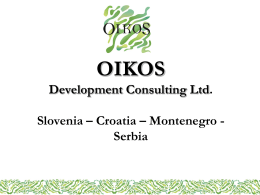 OIKOS Development Consulting Ltd. Slovenia