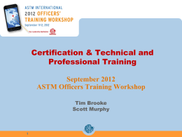 The Environment - ASTM International