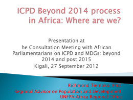 ICPD beyond 2014 with Parliamentarians in Kigali