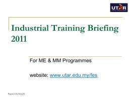General information on utar industrial training programme document spiritdancerdesigns Gallery