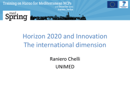 Horizon 2020 and Innovation | The international