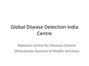 Global Disease Detection Centre in India