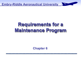Additional Maintenance Program Requirements