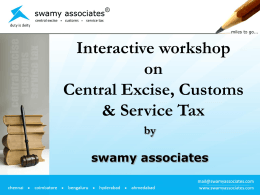 PRESENTATION NAME - Swamy Associates
