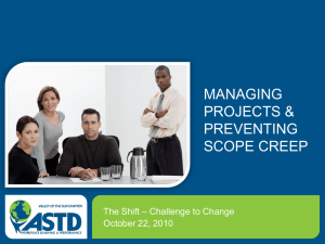 Managing Projects and Preventing Scope Creep