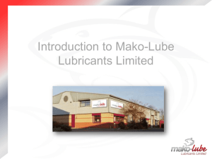 Introduction to Mako-Lube