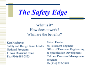 The Safety Edge :