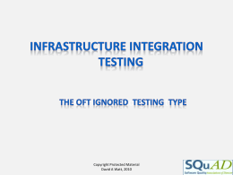 Infrastructure Integration Testing