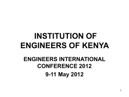 - IEK - The Institution of Engineers of Kenya