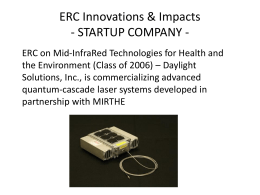 ERC Innovations & Impacts - STARTUP COMPANIES -