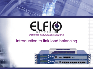 Introduction to link load balancing 1.0
