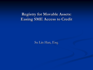 Registry for Movable Assets