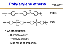 Polymer Synthesis CHEM 421 Advantages of Composite