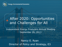 After 2020: Opportunities and Challenges for All