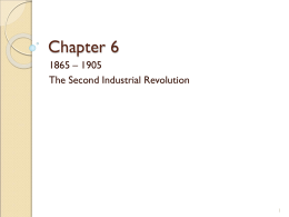 chapter 15 the second industrial revolution
